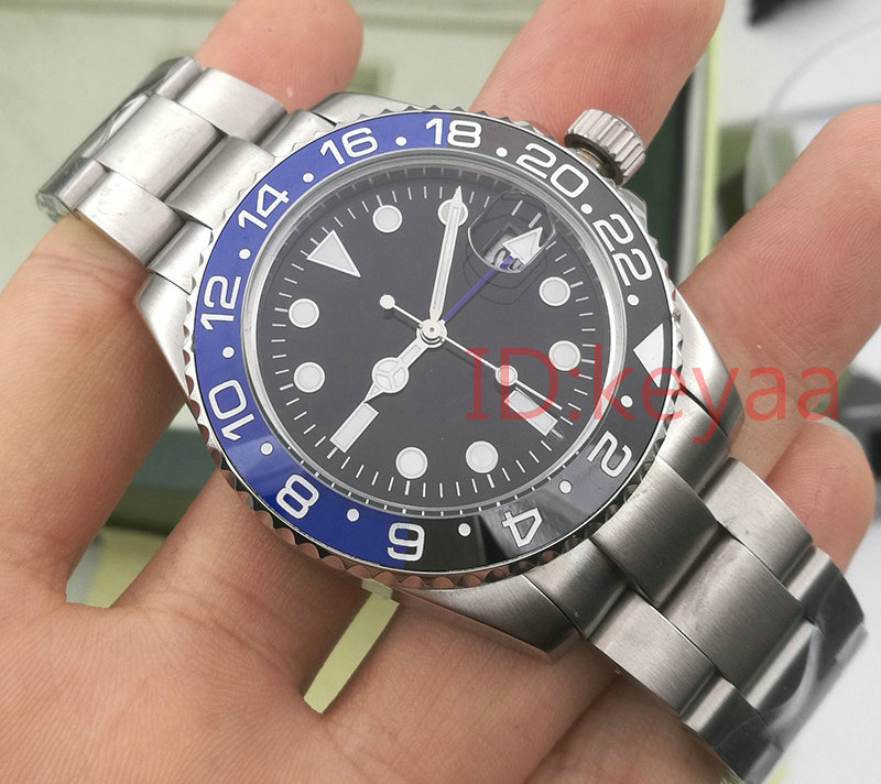 Blue GMT Ceramic Bezel Top Luxury Brand  Mens Mechanical SS Automatic 2813 Movement Watch Sports AAA Watches men WristwatchesBlue GMT Ceramic Bezel Top Luxury Brand  Mens Mechanical SS Automatic 2813 Movement Watch Sports AAA Watches men Wristwatches