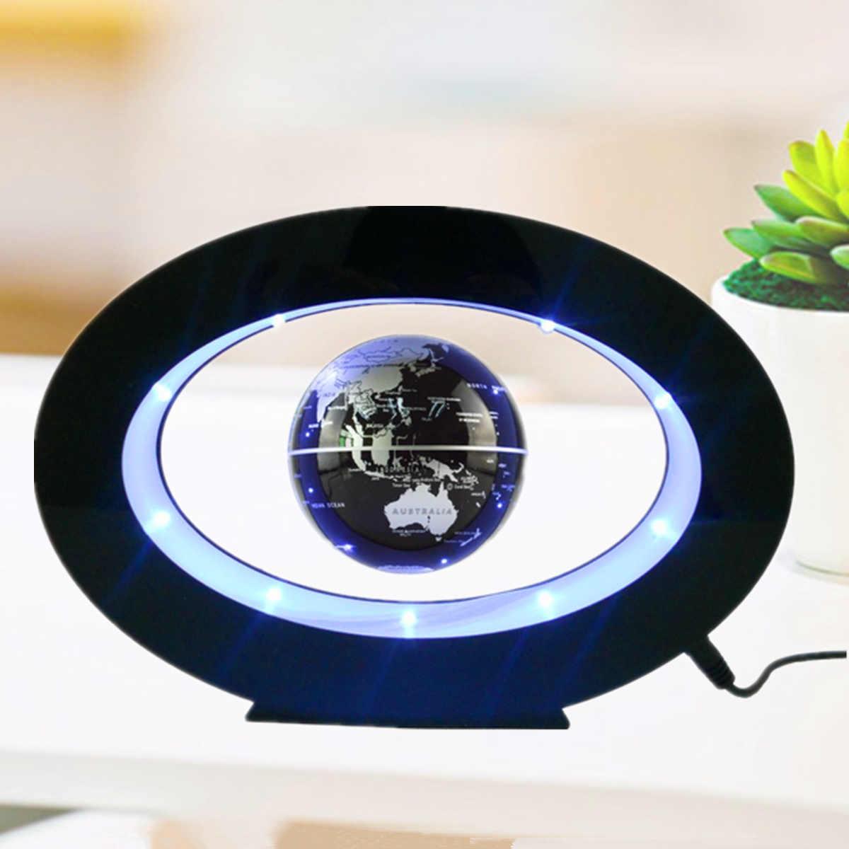 Новинка Круглый светодиодный карта мира плавающей глобус магнитной левитации свет антигравитация магии/роман лампы бола де плазмы Dec плазмы мяч