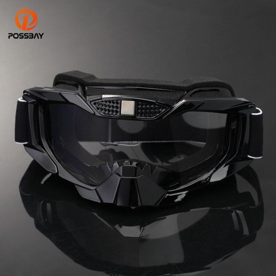 Gafas de Motocicleta Vintage Plegables a Prueba de Viento Gafas de esqu/í a Prueba de Polvo Off Road Racing Gafas Gafas de Banda El/ástica Ajustable
