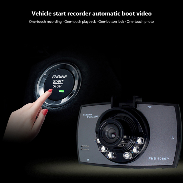 Aoshike Car DVR Camera G30 720P 140 Degree Dashcam Video Registrars For Cars Night Vision G-Sensor Dash Cam Car DVR 4
