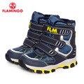 FLAMINGO 2016 nova coleção moda inverno botas de neve com lã de qualidade anti-slip sapatas dos miúdos para o menino W6YC022/021
