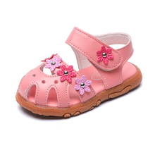 COZULMA Baby Kids Shoes Girls Sandals Children Summer Soft Bottom Beach Shoes Sandals Girls Shoes Princess Roman Style Flower цена