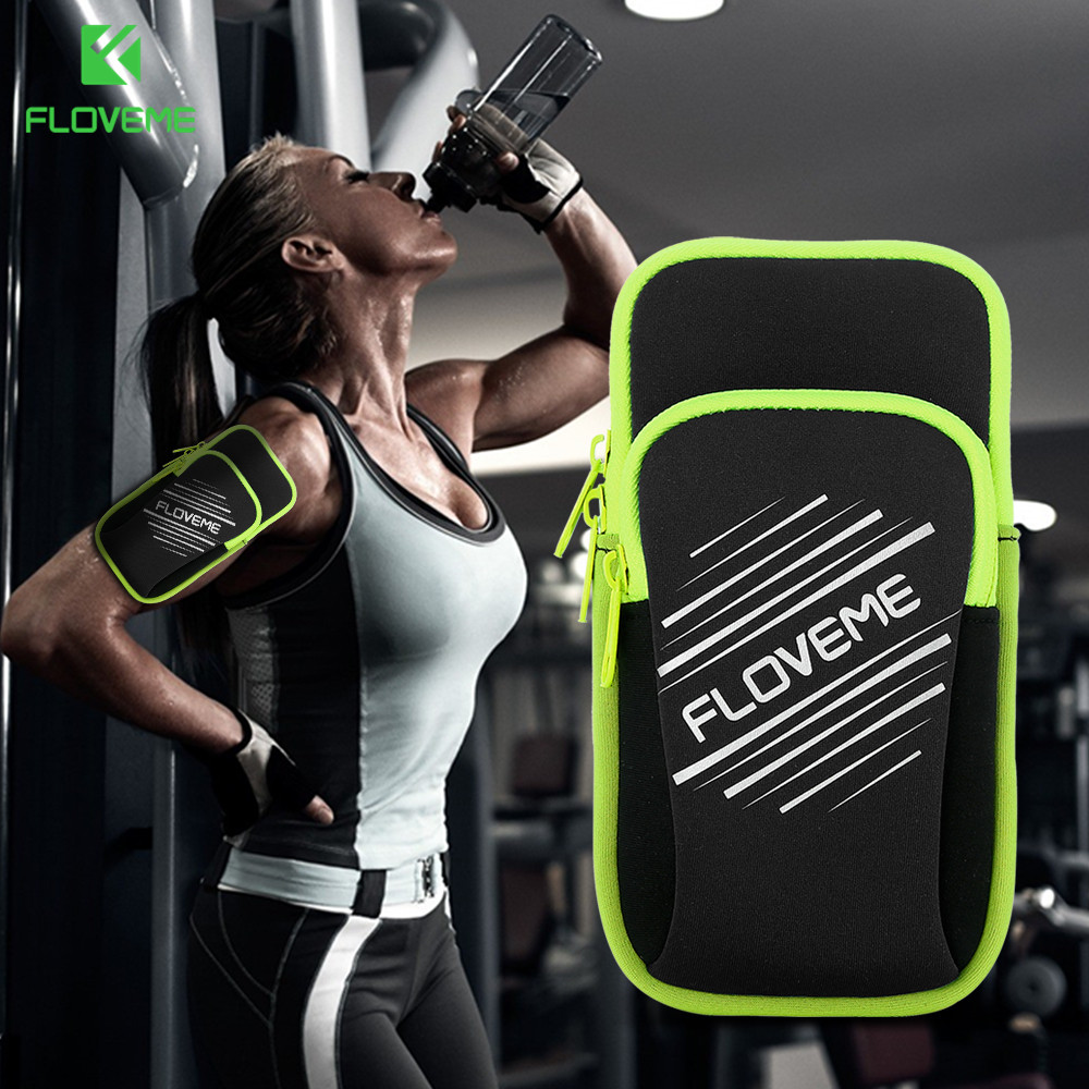 FLOVEME Sport Running Pouch Bags Universal Mobile Phone Armband 5.5 inch Gym Breathable Smartphone Cases For Samsung iPhone 7 8