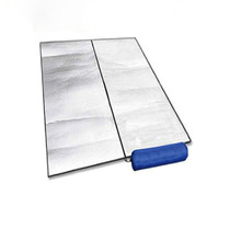 Three outdoor picnic mat moisture pad double-sided aluminum outdoor camping mat moisture-proof crawling mat