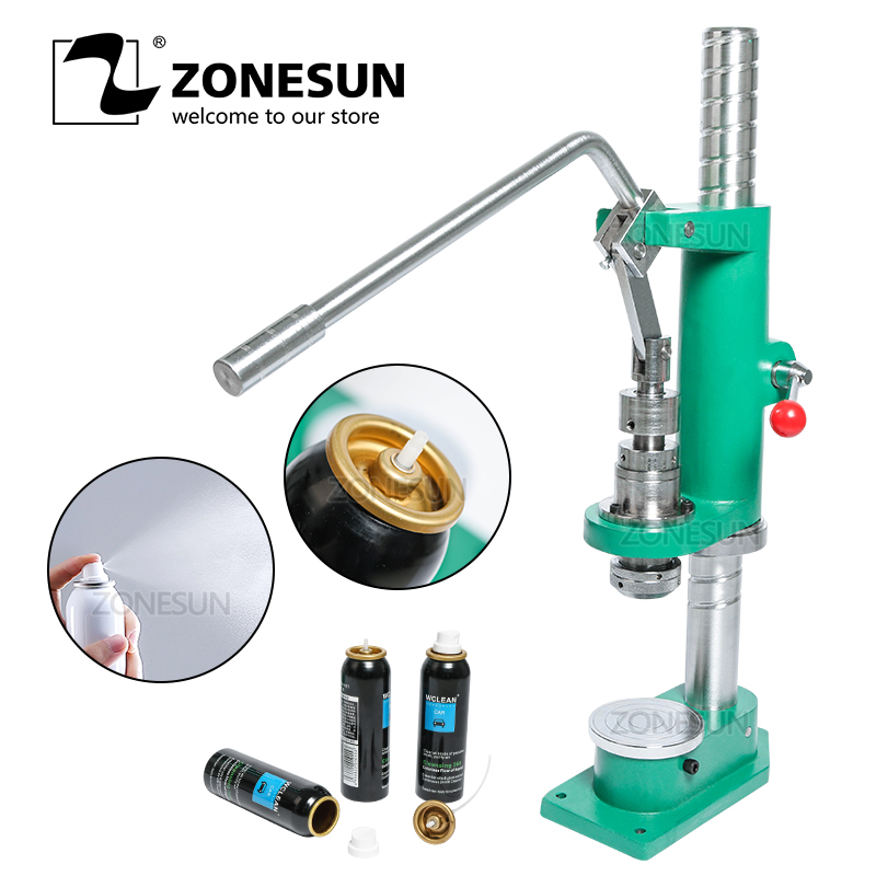 ZONESUN Manual Spray Bottle Aluminium Bottle Crimping Capping Pressing Machine Tool For Sunscreen Spray Medicine Car Cleaner|Power Tool Sets| |  - title=