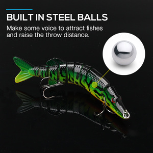 Image 4 - VTAVTA 3/5pcs Artificial Pike Wobblers Fishing Lures Set 12.5cm 20g Multi Jointed Hard Bait Crankbait Swimbait Fishing Tackle