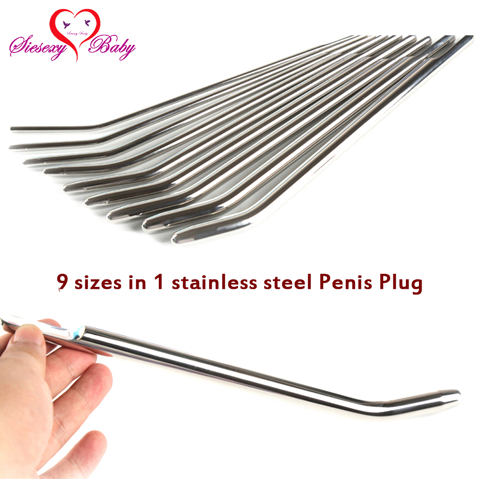 ZH008 9 in1 Stainless Steel Penis Plug Sex Toys for Men Urethral Dilators Catheters sounds Prince