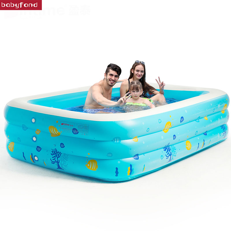 Free shipping ! intime Child Swimming Pool Adult Baby Swimming Pool Baby Inflatable Swimming Pool Ultra-large Thickening pool 338 167 129cm inflatable inflatable slide pool sea pool pool baby children swimming pool fishing thickening basin