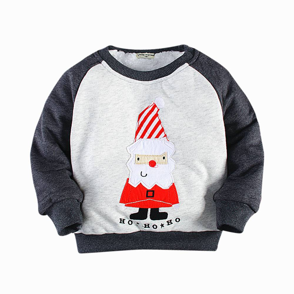 2-7T Toddler Girl Boy Santa Pullover Outwear Winter Toddler Santa Coat Clothes Thick Cotton Thermal Santa Pullover Coat Toddler цены онлайн