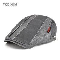 VOBOOM Summer Men Women Casual Patchwork Ivy Flat Cap Newsboy Style Cabbie  Gatsby Beret Hat 101 518ed013eb8