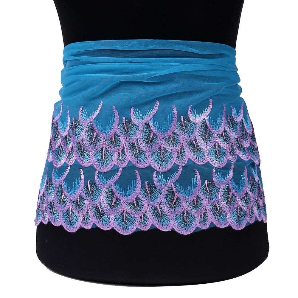 smiry 2 ярдов павлиньи перья с вышитыми цветами кружево отделка высокое качество кружево ткань для поделок свадьба ремесла и вышивание платье аксессуары