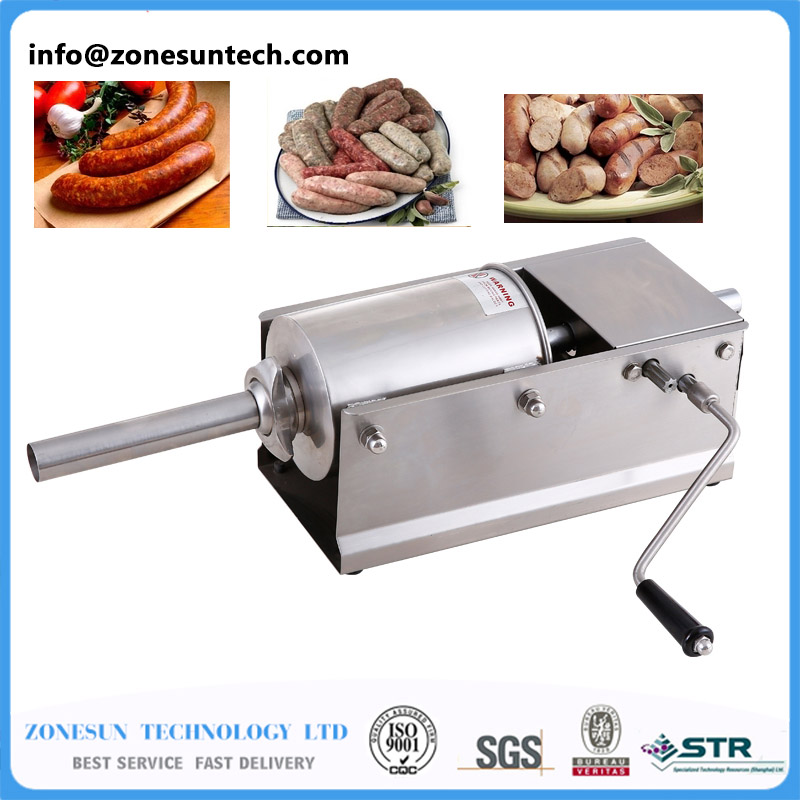 SF3 H Horizontal Type Manual Sausage Stuffer Stainless Steel Sausage Stuffer Meat Filler Sausage Making Machine