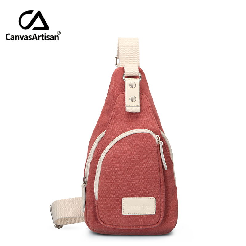 Canvasartisan Brand New Unisex Canvas Cross Body Bags for Men and Women Daily Travel Fashion Shoulder Chest Bag Pack