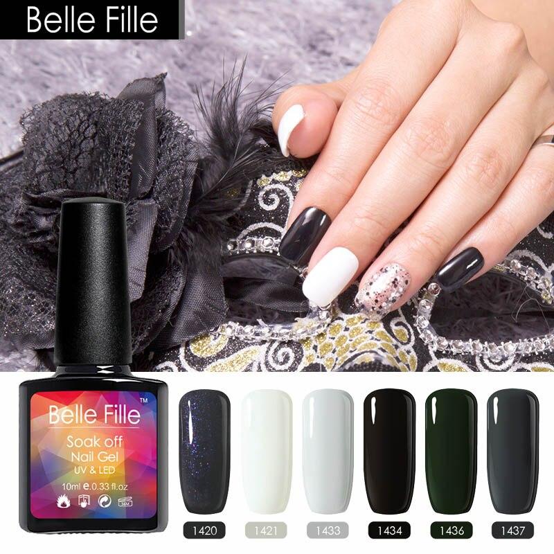 Belle FILLE уф-gelpolish 10 мл Лаки для ногтей гель Профессиональный Дизайн ногтей Макияж <font><b>Ongles</b></font> Гибридный Лаки для ногтей гель лак УФ светодиодная лампа