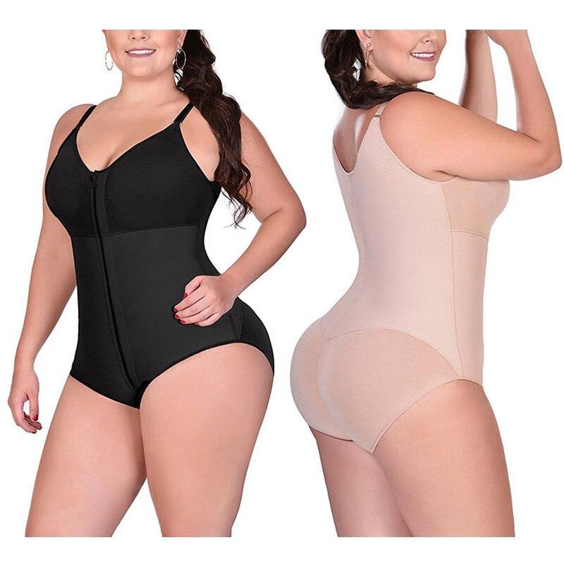 Women plus size bodysuit shapewear Crotch Waist Shapewear