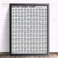 Guitar Chord Chart Large Size Wall Art Canvas Painting Poster For Home Decor Posters And Prints Unframed Decorative Pictures human body anatomy chart wall art canvas painting poster for home decor posters and prints unframed decorative pictures
