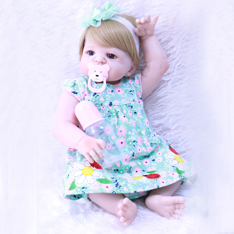 58cm Blond Girls Doll Silicone Reborn Baby Toddlers Bonecas With Fashion Clothes Diy Toys Christmas Gift Bebes Reborn Baby Doll Keep You Fit All The Time Toys & Hobbies