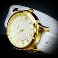 SINOBI Nuevo Oro 5 Tiras de Color Determinado de la Manera Mujeres Del Reloj de Cuarzo Banda de Cuero Relojes Montre Femme Reloj Mujer 2016 Elegante