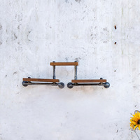 American Country Wrought Iron Furniture Industry Pipe Retro Creative Hanging on the Wall Shelves Wall Shelving