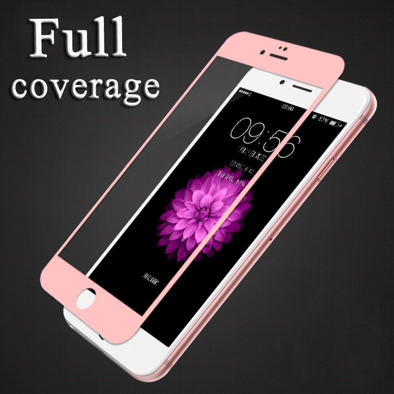 3D GLASS For iPhone 7 6 6s Plus Skjermbeskytter Rund buet kant Premium herdet full deksel for iPhone 7Plus beskyttelsesfilm