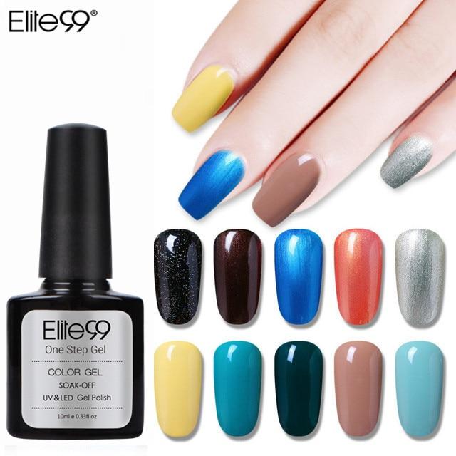 Elite99 Einen Schritt Farbe Gel Lack Reine Farbe Weiß Nail art Design Super Qualität Tränken weg vom LED Organische Geruchlos UV gel Polnisch