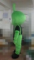 Adult Alien Costume Lovely Cartoon Mascot Costume Custom Cartoon Auspicious Garment Green Costume