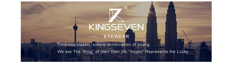 KINGSEVEN Aluminum Square Men/Women Polarized Mirror UV400 Sun Glasses Eyewear Sunglasses For Men