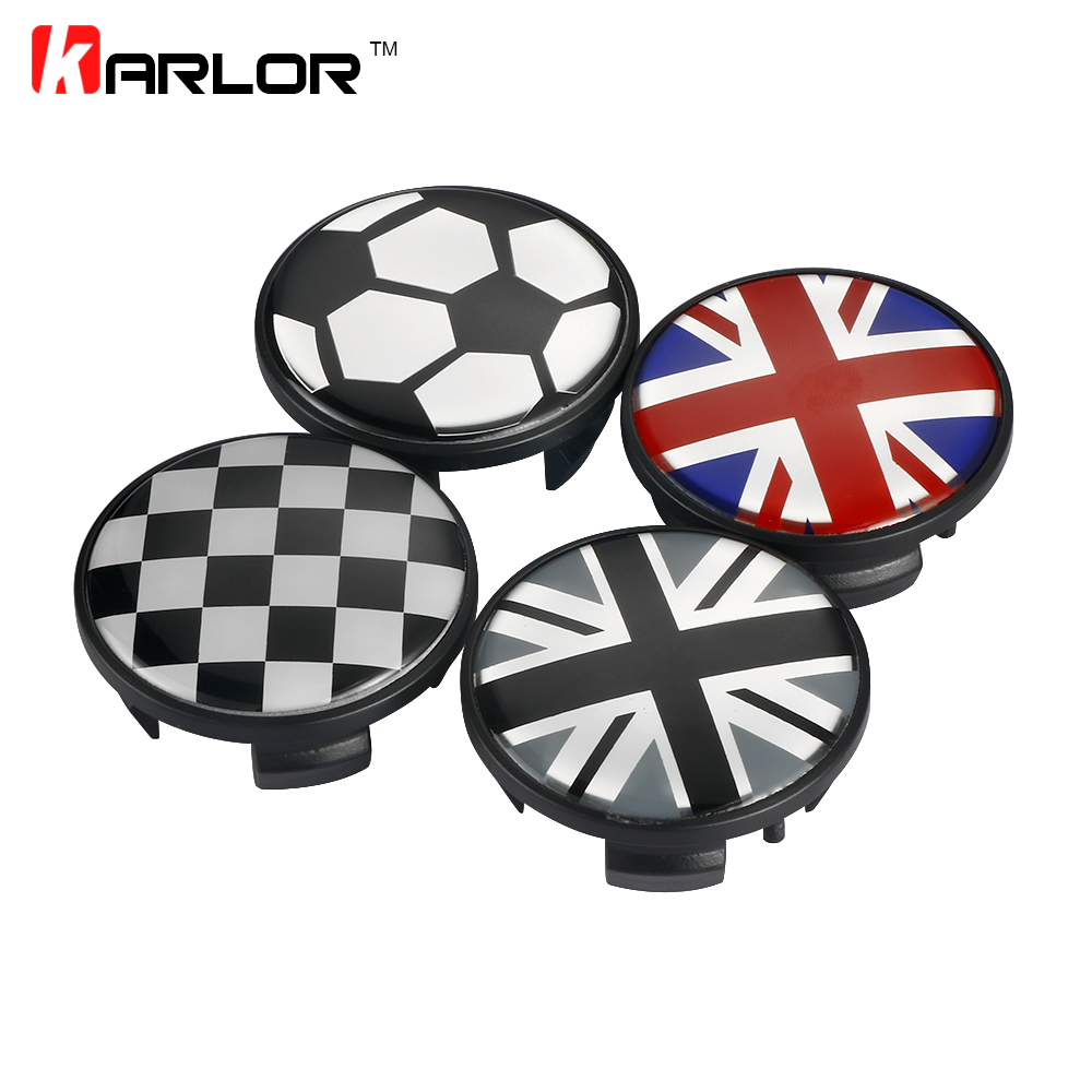 4pcs For Mini Cooper S one clubman countryman R55 R56 R57 R58 R59 R60 R61 F55 F56 Car Wheel hub caps Union Jack JCW Emblem Logo