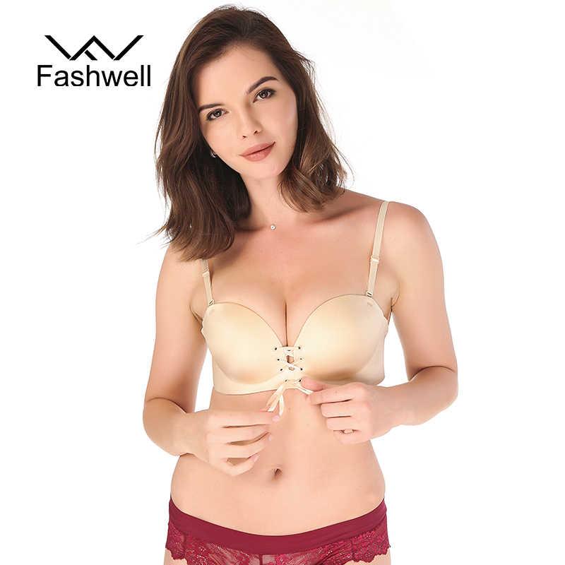f8e43a7b62 Hot Fashion Solid wire free Bra Women Sexy Push Up Bra Strapless Invisible  Bras Side Closure