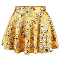 New 2015 summer skirts womens pleated skirts Adventure Time Jake Scoop SKIRT Saia S M L XL plus size