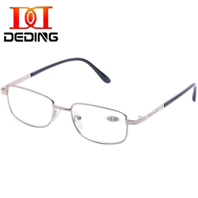 a7334a430a DEDING Men Women Metal Full Rim Reading Glasses with Strength +100 +2.00  +3.00 +4.00 +5.00 +5.50 +6.00 Presbyopia readersDD1377