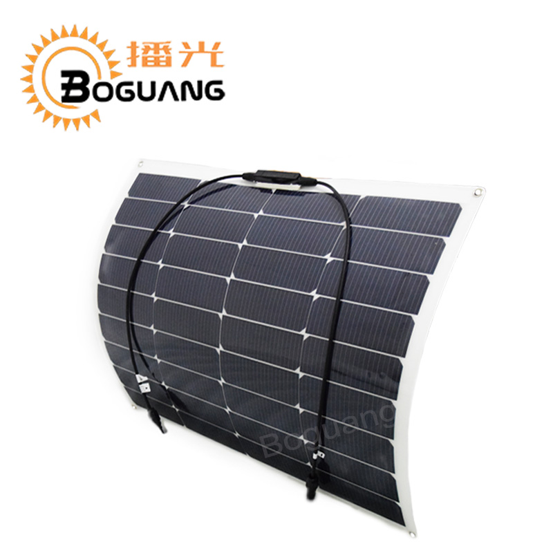 Outdoor 18v 50w flexible solar panel new High efficiency monocrystalline silicon cell module for 12v battery RV yacht car house high efficiency solar cell 100pcs grade a solar cell diy 100w solar panel solar generators