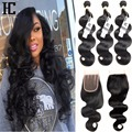 Malaysian Body Wave With Closure Malaysian Virgin Hair With Closure 7A Body Wave With Closure Human Hair 3 Bundles With Closure