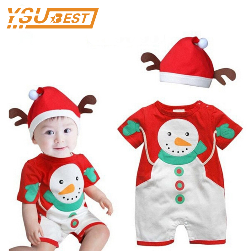 New 2017 Christmas Gift 0-3Yrs Baby Boys Girls Rompers Santa Claus Clothes Children Boys Girls Red Romper Clothing Kids Clothes christmas gift 2016 hot baby jumpsuit santa claus clothes kids overalls newborn boys girls romper children costume