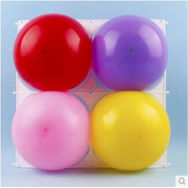 36pcs/lot New arrival! 4 holes balloon grid,birthday /wedding party latex balloon decoration grids split joint plastic grids image