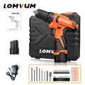 Lomvum nouveaux Mini outils électriques 12/16/24V perceuses électriques sans fil à Double vitesse batteries outils à main tournevis électrique perceuse