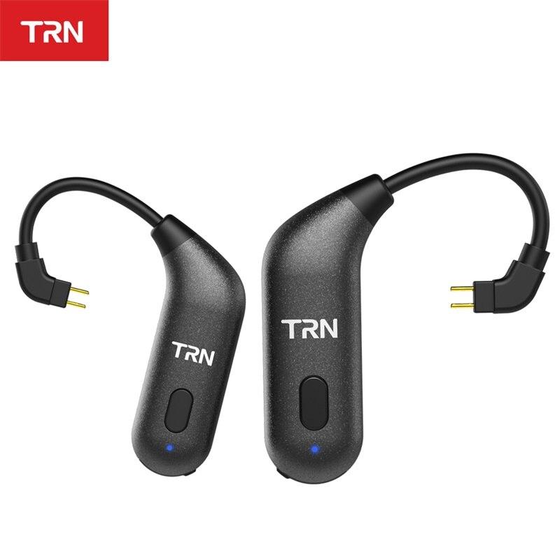 AK TRN BT20S APTX sans fil Bluetooth 5.0 oreille crochet HIFI écouteur 2PIN/MMCX connecteur pour TRN X6/IM1/IM2/V80/v30 Revonext QT5/QT2