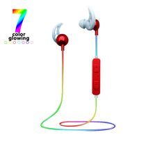 Bluetooth Headset Seven-color Luminescent Headset Chromatic Headset Bluetooth Sports Night Run Luminescent Headset цена 2017