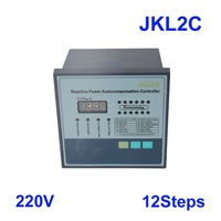JKL2C with power supply 220v 12 steps Reactive power factor compensation controller 50/60Hz for switchgear