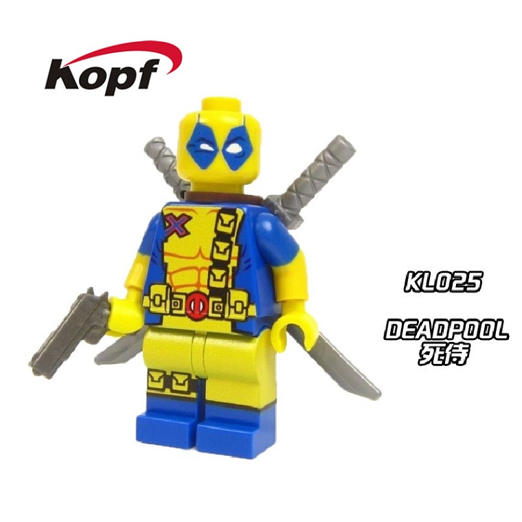 20Pcs KL025 Cute Figures Armed Deadpool Crystal X-Men Super Heroes Inhumans Royal Family Building Blocks Toys for children Gift