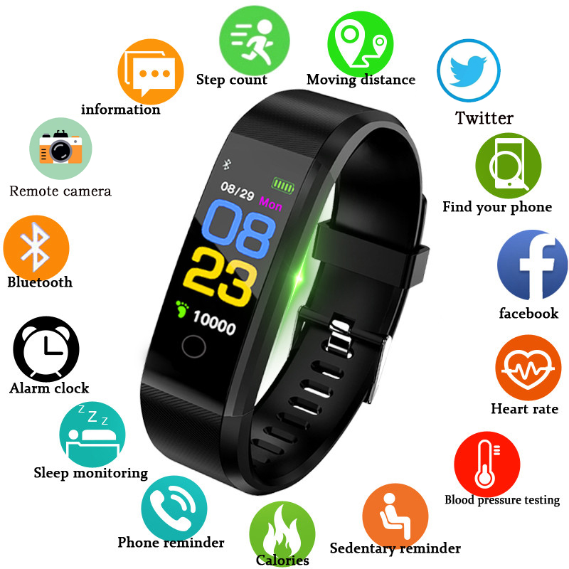 Schnoah New Smart Watch Men Women Heart Rate Monitor Blood Pressure Fitness Tracker Smartwatch Sport Watch for ios android +BOX(China)