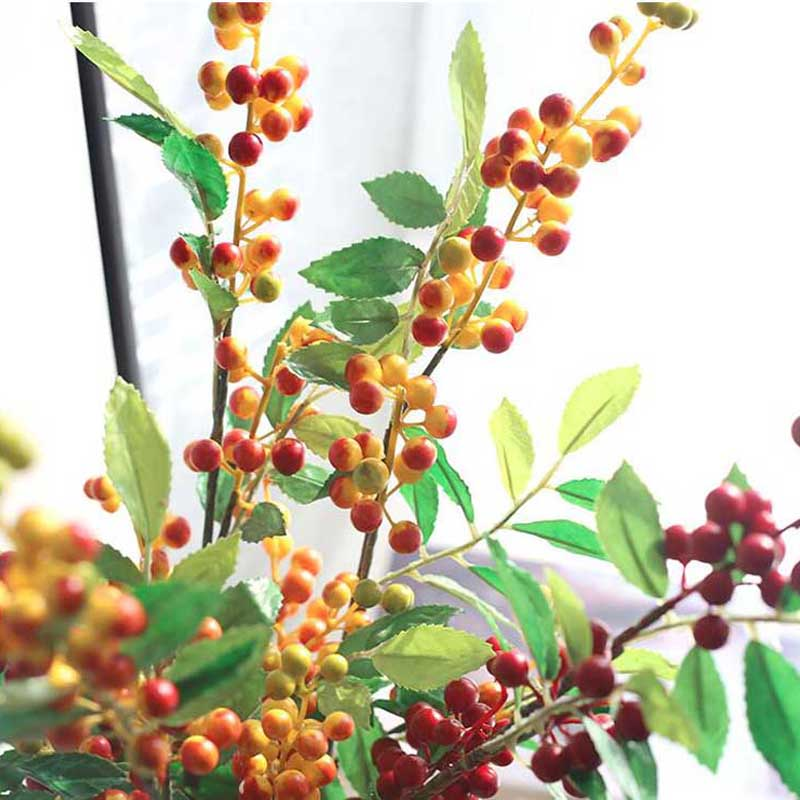 70cm Long Foam Christmas Berry Branch Diy Artificial Flowers Fake