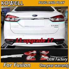Estilo do carro para ford mondeo fusão 2013 2016 luzes traseiras atualizar 2017 lanterna traseira led lâmpada de cauda lâmpada traseira drl + freio + parque + sinal