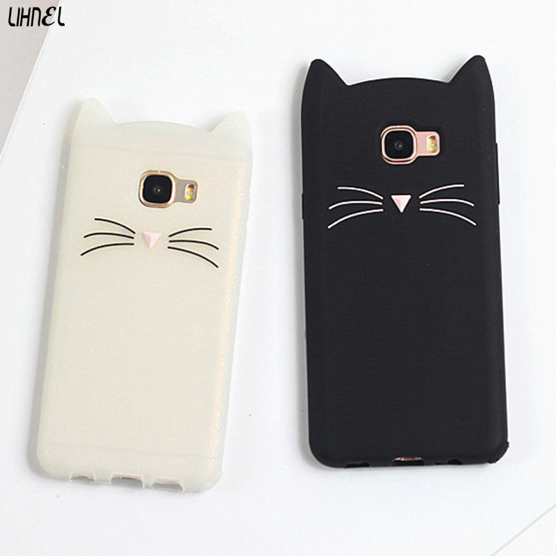 Lihnel 3d Cute Cat Ear Silicon Back Shell Cover For