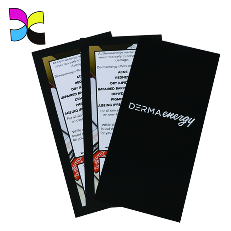 Promotional Cosmetic Distribution Video Foldable Printing Flyers