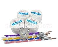 New UV Gel Dotting Pen Clear Glass Dappen Dish Nail Art DIY Kit