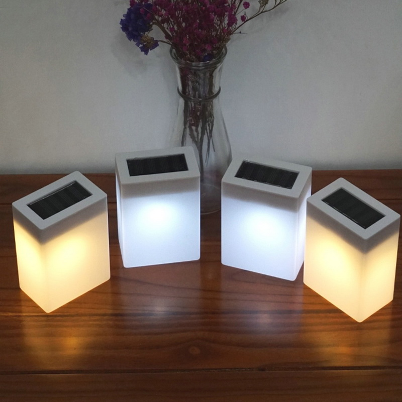 New Arrivals Solar Light Outdoor Fashion Square Solar Wall Light Garden Lights Fence Lamp Camping Lamp Bar Table Lamp