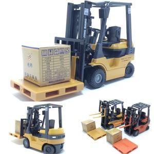 Image 1 - 1:60 échelle alliage modèle voiture alliage ingénierie véhicules ascenseur chariot élévateur boîte cadeau simulation chariot élévateur enfants jouets livraison gratuite