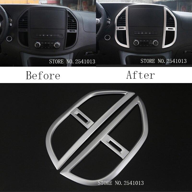 Fransande Accessori per Mercedes Vito W447 2014 2015 2016 2017 2 pezzi ABS di controllo centrale aria condizionata pannello di copertura