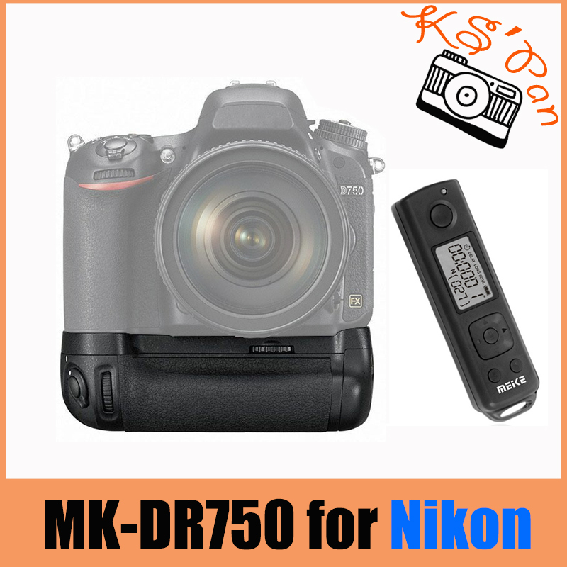 Meike MK-DR750 Built-in 2.4g Wireless Control Battery Grip for Nikon D750 AS MB-D16 meike mk 760d pro built in 2 4g wireless control battery grip suit for canon 750d 760d as bg e18